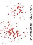 light red vertical hearts... | Shutterstock . vector #732877543