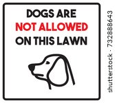 dogs are not allowed on this... | Shutterstock .eps vector #732888643