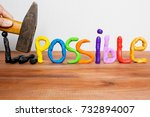 impossible becomes possible ...   Shutterstock . vector #732894007