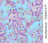 floral seamless pattern with... | Shutterstock .eps vector #732907177