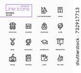 school concept   line design... | Shutterstock .eps vector #732917713