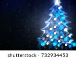 winter holiday background with... | Shutterstock . vector #732934453
