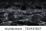 futuristic grey network shape.... | Shutterstock . vector #732937837