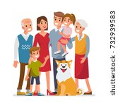 big family portrait  with... | Shutterstock . vector #732939583