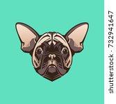 vector close up portrait of... | Shutterstock .eps vector #732941647