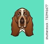 vector close up portrait of... | Shutterstock .eps vector #732941677