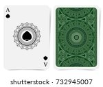 ace of spades face with spades... | Shutterstock .eps vector #732945007