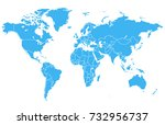world map | Shutterstock .eps vector #732956737