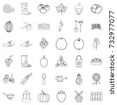 growth icons set. outline style ... | Shutterstock .eps vector #732977077