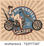 Pin Up Girl On Motorcycle ...