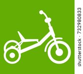 tricycle icon white isolated on ... | Shutterstock .eps vector #732980833