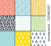 seamless patterns with stylized ... | Shutterstock .eps vector #732982357