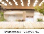empty wooden table for present...   Shutterstock . vector #732998767