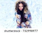 outdoor portrait of young... | Shutterstock . vector #732998977