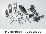 spare parts of clutch plate... | Shutterstock . vector #733010893