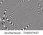 optical illusion  abstract... | Shutterstock .eps vector #733037437