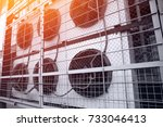 commercial cooling hvac air...   Shutterstock . vector #733046413