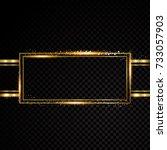 vector rectangle frame. shining ...   Shutterstock .eps vector #733057903