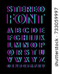 font with stereoscopic effect.... | Shutterstock .eps vector #733059997