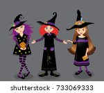 halloween vector illustration... | Shutterstock .eps vector #733069333