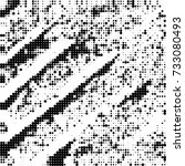 halftone black and white. ink... | Shutterstock .eps vector #733080493