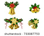 christmas decoration evergreen... | Shutterstock .eps vector #733087753