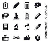 16 vector icon set   clipboard  ... | Shutterstock .eps vector #733090837
