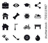 16 vector icon set   portfolio  ... | Shutterstock .eps vector #733111987