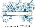 blue grunge christmas  floral... | Shutterstock .eps vector #7331194