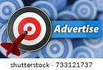 3d illustration of target with...   Shutterstock . vector #733121737