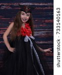 girl and halloween | Shutterstock . vector #733140163