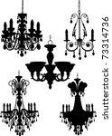 chandeliers | Shutterstock . vector #73314736