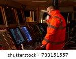 navigation officer   pilot on... | Shutterstock . vector #733151557