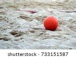 beach handball | Shutterstock . vector #733151587