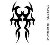 tattoo tribal vector design.... | Shutterstock .eps vector #733153423