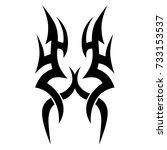 tattoo tribal vector design.... | Shutterstock .eps vector #733153537