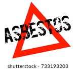 asbestos sticker. authentic... | Shutterstock .eps vector #733193203