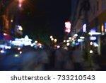 blurry images  people walking ... | Shutterstock . vector #733210543