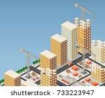 illustration of urban... | Shutterstock . vector #733223947