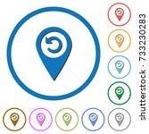 undo gps map location flat... | Shutterstock .eps vector #733230283