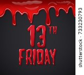friday the13th. bloody... | Shutterstock .eps vector #733230793