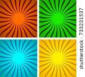 set of colored pop art... | Shutterstock .eps vector #733231537