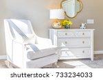 bright white modern rocking... | Shutterstock . vector #733234033