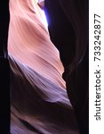 Small photo of Wonderful feature in Antelope Canyon/wonder of nature