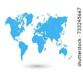 color world map | Shutterstock .eps vector #733245667