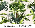 beautiful seamless vector... | Shutterstock .eps vector #733246357