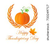 happy thanksgiving ... | Shutterstock .eps vector #733249717
