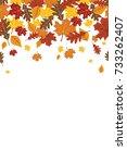 bright falling fall autumn...   Shutterstock .eps vector #733262407