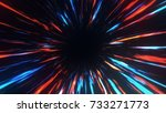 wormhole right in time and... | Shutterstock . vector #733271773
