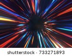 wormhole right in time and... | Shutterstock . vector #733271893